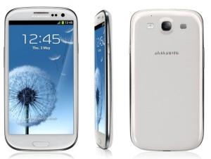 De Samsung Galaxy S3 in het wit
