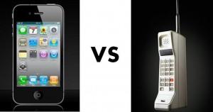 Smartphone versus de ouderwetse GSM